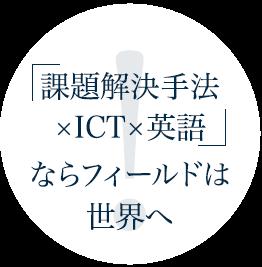 課題解決手法×ICT×英語ならフィールドは世界へ