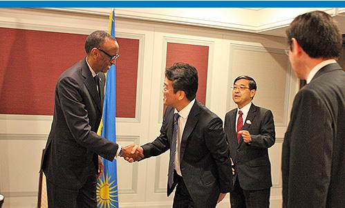 ポール・カガメ ルワンダ大統領訪日に際し、福岡副学長が日本政府主催の各種会合に参加