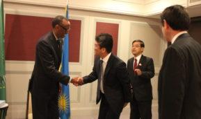 カガメ・ルワンダ共和国大統領が本学の取り組みを高く評価