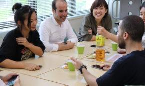 神戸市外国語大学学生との交流会開催